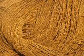 picture of coir  - A closeup of twisted coir rope  - JPG