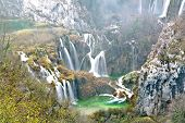 stock photo of breathtaking  - Breathtaking view in the Plitvice Lakes National Park Croatia - JPG
