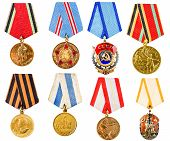 stock photo of medal  - Each Medal Photographed Separately - JPG