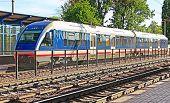 image of vinnitsa  - New modern train on Vinnitsa railway station Vinnitsa - JPG