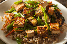 picture of stir fry  - Homemade Tofu Stir Fry with Vegetables and Rice - JPG