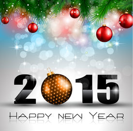 pic of star shape  - 2015 New Year and Happy Christmas background for your flyers - JPG