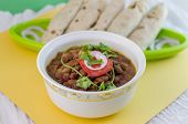 foto of kidney beans  - Rajma is a popular Indian vegetarian food consisting of red kidney beans in thick gravy - JPG