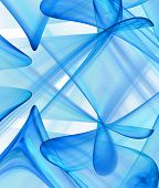 stock photo of plasmatic  - Abstract shapes background in blue colored spectrum - JPG