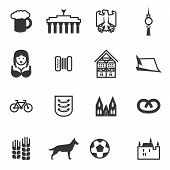 picture of pretzels  - Set of icons with signs of Germany and Berlin - JPG