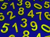image of zero  - Background of numbers - JPG