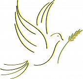 foto of peace  - dove of peace silhouettes designed to stretch - JPG