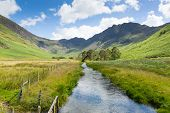 pic of haystack  - Haystacks mountain from Buttermere UK Cumbrian Lake District from Peggys Bridge - JPG