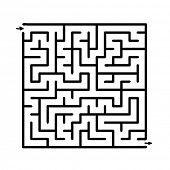picture of riddles  - Black vector maze - JPG