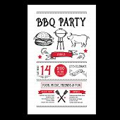 picture of bbq party  - Barbecue party invitation - JPG