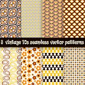 image of 70-year-old  - collection of eight seamless vintage 70s backgrounds - JPG