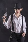 stock photo of gangster  - Beautiful and dangerous - JPG