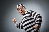 stock photo of inmate  - Prison inmate in funny concept - JPG