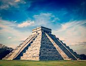 foto of mayan  - Vintage retro effect filtered hipster style image of Mexico travel background famous mexican landmark  - JPG