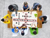 image of responsibility  - Social Responsibility Reliability Dependability Ethics Concept - JPG