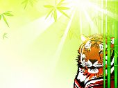 pic of bamboo forest  - Illustration of Tiger Tiger in Sunny Bamboo Forest Copyspace - JPG