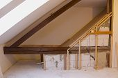 pic of attic  - Reconstruction of the attic  - JPG