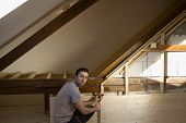 foto of attic  - Reconstruction of the attic  - JPG