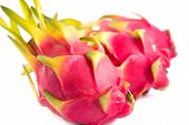 picture of dragon fruit  - Three exotic dragon fruits - JPG