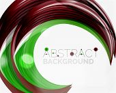 foto of slogan  -  green swirl line abstract background - JPG