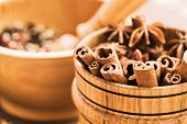 pic of christmas spices  - Clove and cinnamon closeup - JPG