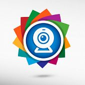 image of video chat  - Webcam sign icon - JPG