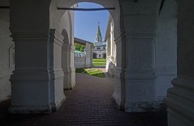 picture of ascension  - View from inside the galery of the Church of the Ascension onto the tower of the royal palace - JPG