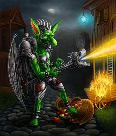 image of goblin  - Fantasy concept art illustration - JPG