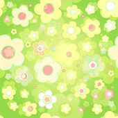 Seamless tile-able spring background - vector wrapping paper pattern