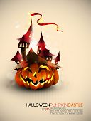 Halloween Castle Grown on a Pumpkin | EPS10 Compatibility Needed