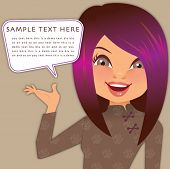 picture of cartoon character  - woman character  - JPG