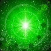 pic of st patrick  - Abstract green background for St - JPG