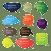 Постер, плакат: Красочные речи пузыри