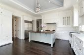 picture of firehouse  - Luxury white kitchen with island - JPG