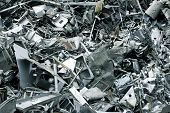 stock photo of scrap-iron  - Massive pile of scrap metal  - JPG
