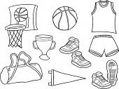 Basketball Sports Vector Illustration
