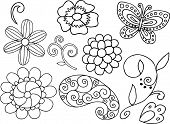 Cute Paisley Vector Elements