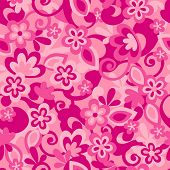 Floral Camo Background Seamless Repeat Pattern Vector Illustration