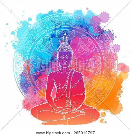 Buddha Meditating In The Single