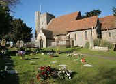 English Church And Graveyard In Kent England