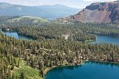 Overlooking Lake Mamie, Mary, And George With Twin Lakes In The Distance, Mammoth Lakes, California poster