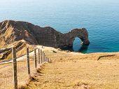 Durdle Door Nature Coastline Coast Sea Special Landscape Dorset South Tourists Tourism poster