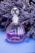 Natural Healthy Aromatherapy And Home Fragrance, Purple Lavender Eccential Oil In Glass Decorative B poster