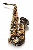 pic of saxy  - Saxophone of the colour of chocolate with gold - JPG