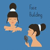 Face Building. Exercises To Maintain Facial Contours, To Avoid The Second Chin. Massaging The Chin W poster