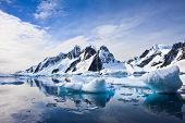 stock photo of arctic landscape  - Beautiful snow - JPG