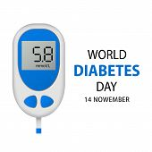 November Diabetes Day Concept Background. Realistic Illustration Of November Diabetes Day Vector Con poster
