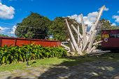 Santa Clara, Cuba - Feb 13, 2016: Monument To The Derailment Of The Armored Train In Santa Clara, Cu poster