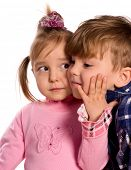 stock photo of sissy  - Portrait of emotionally kids - JPG