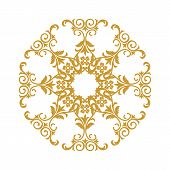 Brown Vintage Ornament, Baroque Ornament, Scroll Ornament, Engraving Border Ornament, Floral Ornamen poster